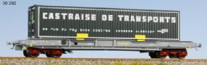 "LS Models 30292 K1 4-axle container flat, ""Castraise de Transports"" 40' container"